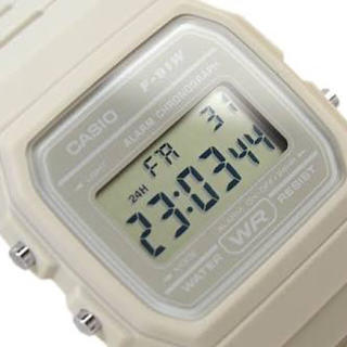 カシオ(CASIO)の【イギリス限定】CASIO F-91WC オフホワイト(腕時計(デジタル))