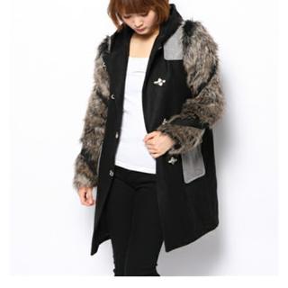 ステューシー(STUSSY)の試着のみ STUSSY ファー付きコート ¥30000→¥9800(毛皮/ファーコート)