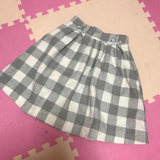 リズリサ(LIZ LISA)のLIZ LISA グレーチェックスカート(ひざ丈スカート)