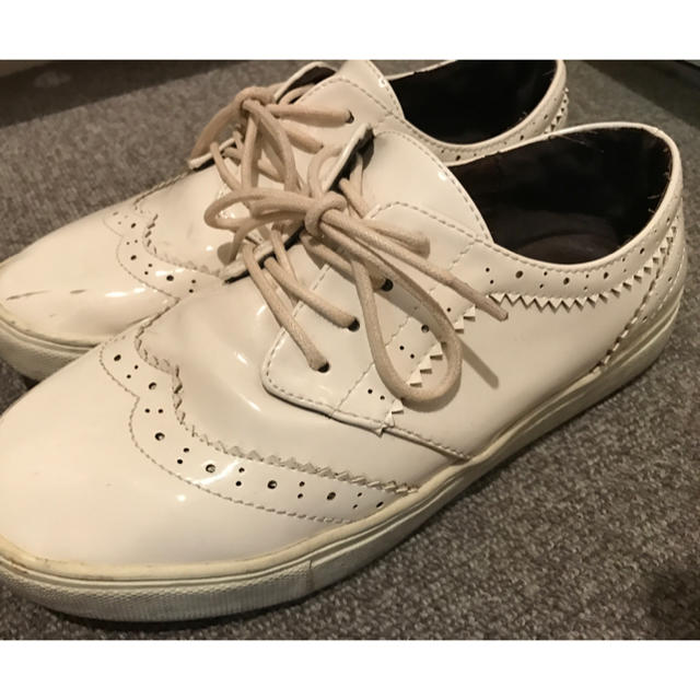 PANAMA BOY(パナマボーイ)の白 シューズ レディースの靴/シューズ(ローファー/革靴)の商品写真