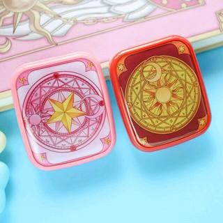 魔法陣コンタクトケース セット ミラー付き カードキャプターさくら 赤のみ(その他)