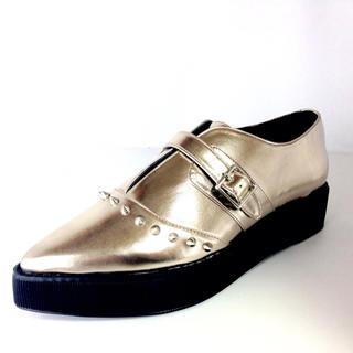 ウルラ(Ulula)のLサイズ 厚底ブーツ シャンパンゴールド 新品送料無料(ブーツ)