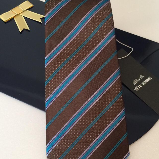 TETE HOMME(テットオム)の新品!テットオム シルクネクタイ ブラウン系 メンズのファッション小物(ネクタイ)の商品写真