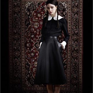 ミュウミュウ(miumiu)の ☆MURRAL 36 ミモレ丈合皮スカート☆ ミューラル(ひざ丈スカート)