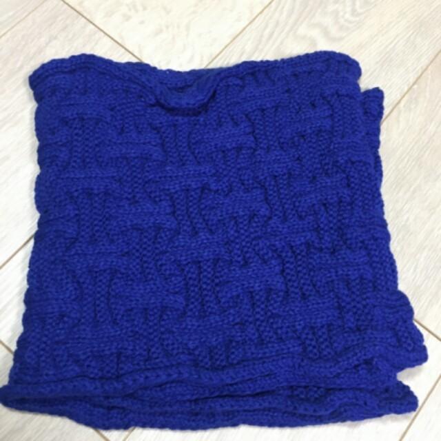 ★スヌード・ネックウォーマー(ブルー) レディースのファッション小物(マフラー/ショール)の商品写真