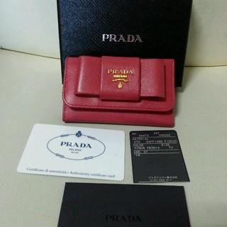 4d802677a40e PRADA - PRADAプラダリボンキーケースの通販 by かれたんママ's shop ...