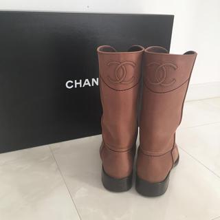 シャネル(CHANEL)の専用!限定値下げCHANELブラウンレザーショートブーツ(ブーツ)