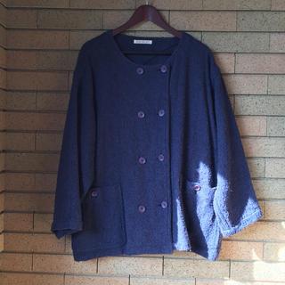 イッセイミヤケ(ISSEY MIYAKE)のISSEY MIYAKE デザインジャケット(ノーカラージャケット)