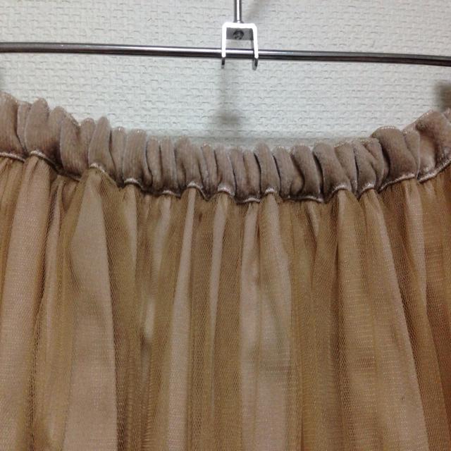 DRESSTERIOR(ドレステリア)のチュールスカート(ベージュ) レディースのスカート(ひざ丈スカート)の商品写真