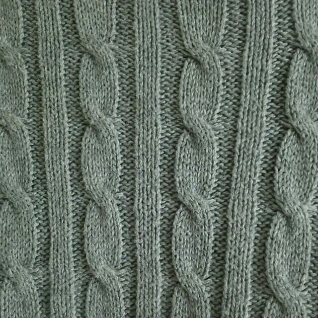 MUJI (無印良品)(ムジルシリョウヒン)の■無印良品■ケーブルニット グレー レディースのトップス(ニット/セーター)の商品写真