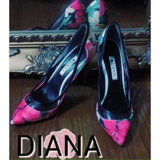 ダイアナ(DIANA)のDIANA◾ポインテッドトゥ花柄パンプス (ハイヒール/パンプス)