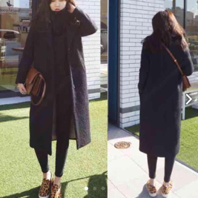 Kastane(カスタネ)のロングチェスターコート : ブラック レディースのジャケット/アウター(チェスターコート)の商品写真
