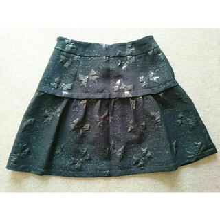 チェスティ(Chesty)の【cocorin様専用】美品!chestyチェスティ☆リボン柄スカート(黒)(ミニスカート)