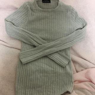 グリーンレーベルリラクシング(green label relaxing)のリブニット(ニット/セーター)