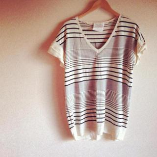 ミスティウーマン(mysty woman)のMysty サマーボーダーニット(Tシャツ(半袖/袖なし))