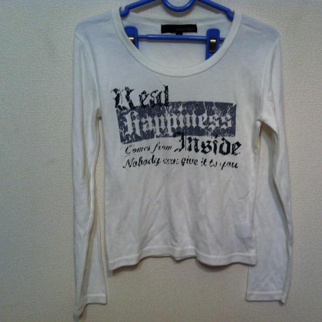 白ロンT レディースのトップス(Tシャツ(長袖/七分))の商品写真