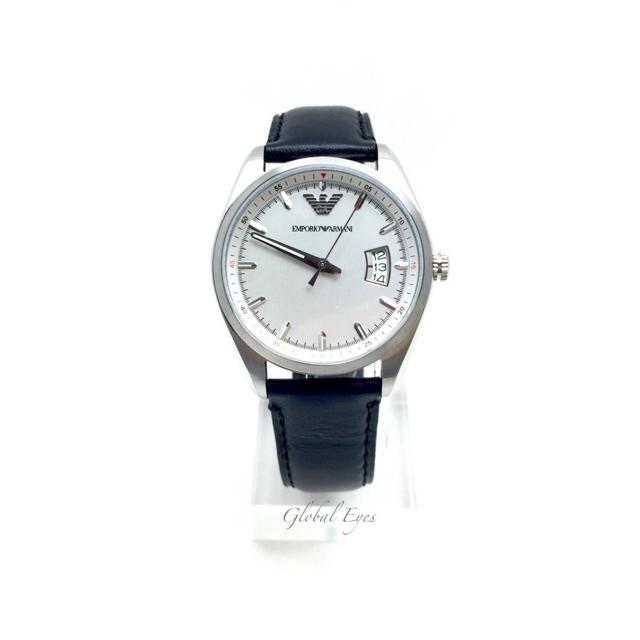 Emporio Armani(エンポリオアルマーニ)のエンポリオ アルマーニ レザー ウォッチ 腕時計 AR6015 ブラック メンズの時計(腕時計(アナログ))の商品写真