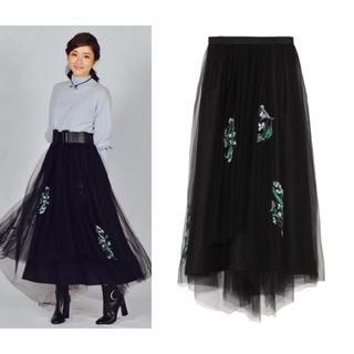 フレイアイディー(FRAY I.D)の石原さとみさん着用♡刺繍チュールスカート(ロングスカート)