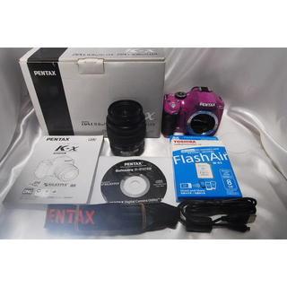 ペンタックス(PENTAX)のpentax K-x レンズキット!パープル(デジタル一眼)