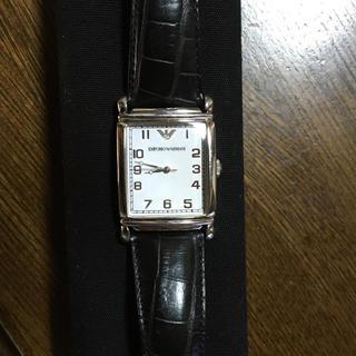 エンポリオアルマーニ(Emporio Armani)の正規品✨腕時計⌚️EA黒革ベルト(レザーベルト)