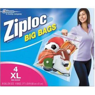 ビームス(BEAMS)の日本未発売ZIPLOC XL 4枚入り (エコバッグ)