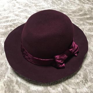 リリーブラウン(Lily Brown)の美品★リリーブラウン リボンハット 帽子(ハット)