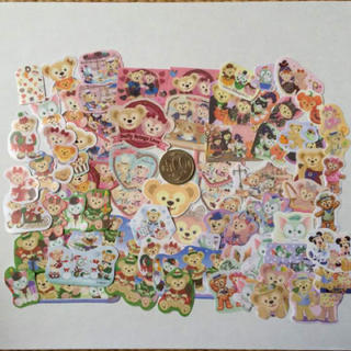 ディズニー(Disney)のダッフィー ♠︎ フレークシール 90枚以上⁉︎ ♠︎ ハンドメイド(しおり/ステッカー)