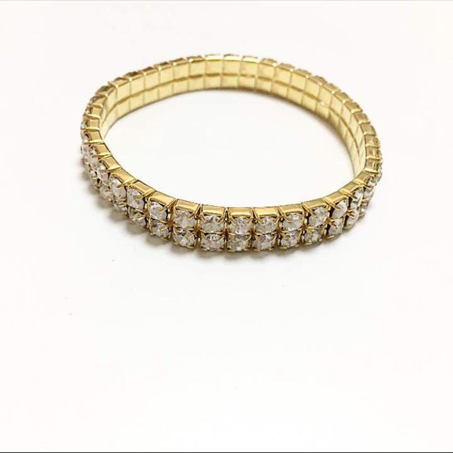 二連ゴールドブレスレット メンズのアクセサリー(ブレスレット)の商品写真