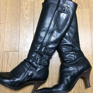 ドリスヴァンノッテン(DRIES VAN NOTEN)の《〜SALE〜》 DRIES VAN NOTEN  本革 ロングブーツ☆黒☆38(ブーツ)