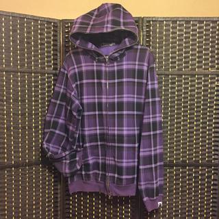 アベイシングエイプ(A BATHING APE)のA Bathing Ape 紫チェック/Purple Check パーカー(パーカー)