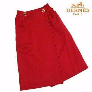 エルメス(Hermes)の美品!! HERMES エルメス 巻きスカート E41(ロングスカート)