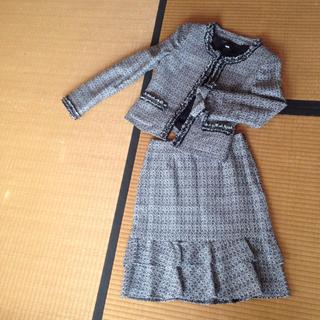 ミッシェルクラン(MICHEL KLEIN)のミッシェルクランのツイードスーツ(スーツ)