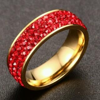 ❤300円リング❗❗18 kゴールドメッキクリスタルリング(リング(指輪))