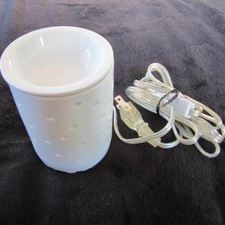 ムジルシリョウヒン(MUJI (無印良品))の無印良品 アロマウォーマー・ドット 白(アロマポット/アロマランプ/芳香器)