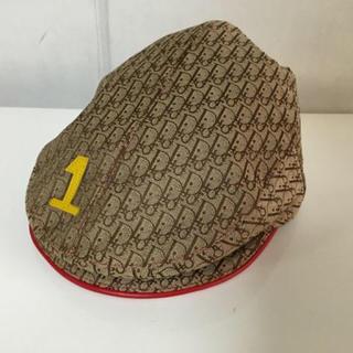 クリスチャンディオール(Christian Dior)の極美品本物クリスチャンディオールDIOR柄ハンチングベレー帽子ぼうしボウシ(ハンチング/ベレー帽)