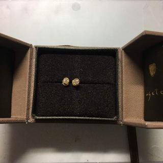 アガット(agete)のagete ピアス K18 and diamond(ピアス)