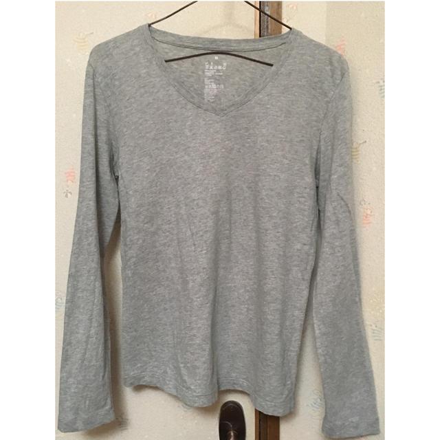 MUJI (無印良品)(ムジルシリョウヒン)の無印良品 Vネック 長袖Tシャツ レディースのトップス(Tシャツ(長袖/七分))の商品写真