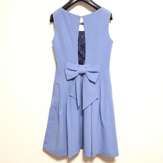 ヴィス(ViS)の【新品】ワンピース(ライトブルー)(ミディアムドレス