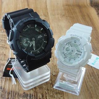ジーショック(G-SHOCK)のCASIO ペア腕時計 GA-110-1BJFBA-110-7A3JF 新品(腕時計(デジタル))