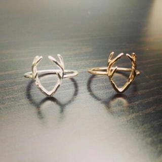 シルバー クリスマス定番 鹿の角リング シンプル 定番 可愛いいリング(リング(指輪))