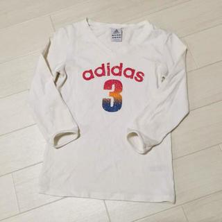 アディダス(adidas)のアディダス レディース ストレッチ Tシャツ 7分袖 Vネック adidas(Tシャツ(長袖/七分))
