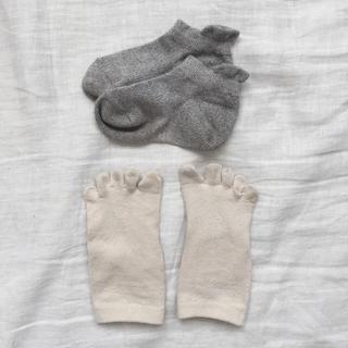 ムジルシリョウヒン(MUJI (無印良品))のキッズ用五本指ソックス&無印靴下セット 冷えとり(靴下/タイツ)