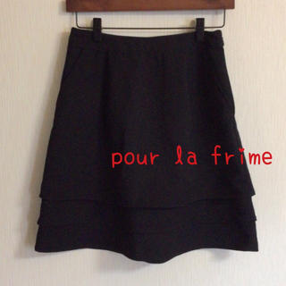 プーラフリーム(pour la frime)のpour la frime  ♡ 膝丈スカート 黒(ひざ丈スカート)