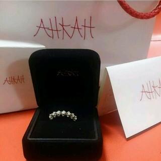 アーカー(AHKAH)のアーカー ダイヤリング WG k18(リング(指輪))