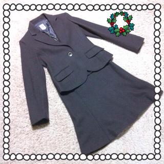 ミッシェルクラン(MICHEL KLEIN)のウール100% 深緑色スーツ🎄美品✨(スーツ)
