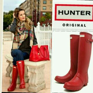 ハンター(HUNTER)のHUNTER/新品未使用♡レインブーツ(red)(レインブーツ/長靴)