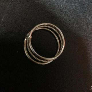 シルバー三連リング(リング(指輪))
