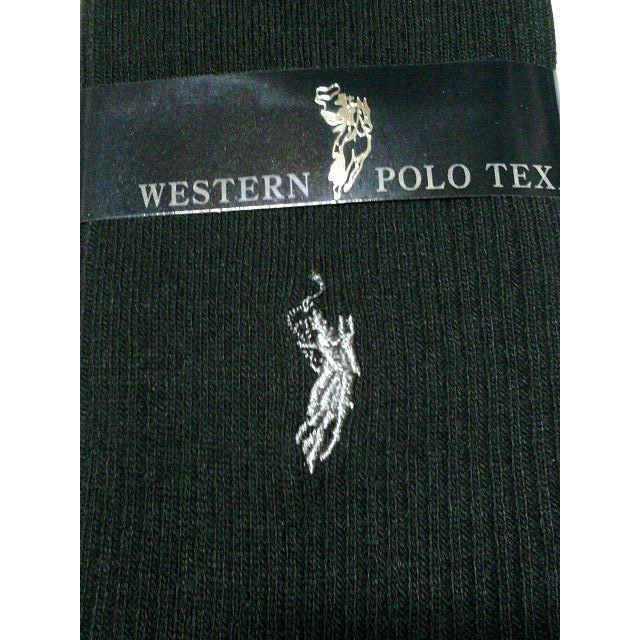 WESTERN POLO TEXAS ビジネスソックス 黒 10足 メンズのレッグウェア(ソックス)の商品写真