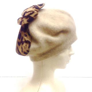 Flea Store シルクリボンカシミヤベレー(ハンチング/ベレー帽)