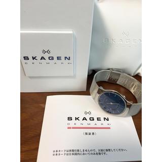 スカーゲン(SKAGEN)のSKAGEN 腕時計 ブルー×シルバー レディース(腕時計)